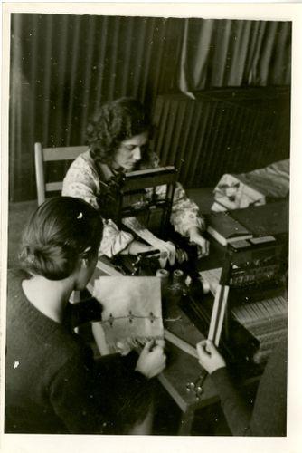 Students weaving