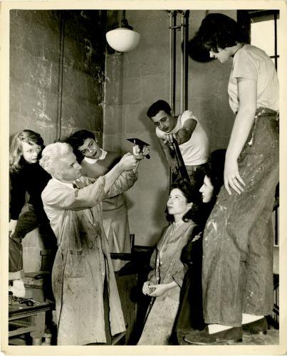 Demonstration by printmaking professor Otis Philbrick