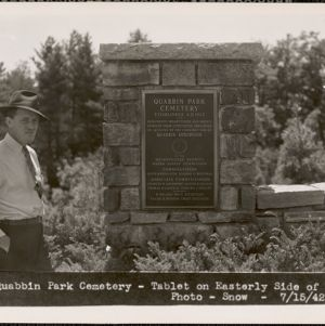 Massachusetts Metropolitan District Water Supply Commission, Quabbin Reservoir, Photographs of Cemeteries, 1928-1945