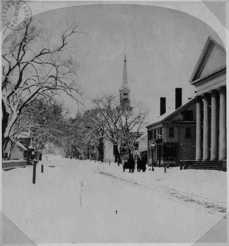 Upper Main Street in winter.