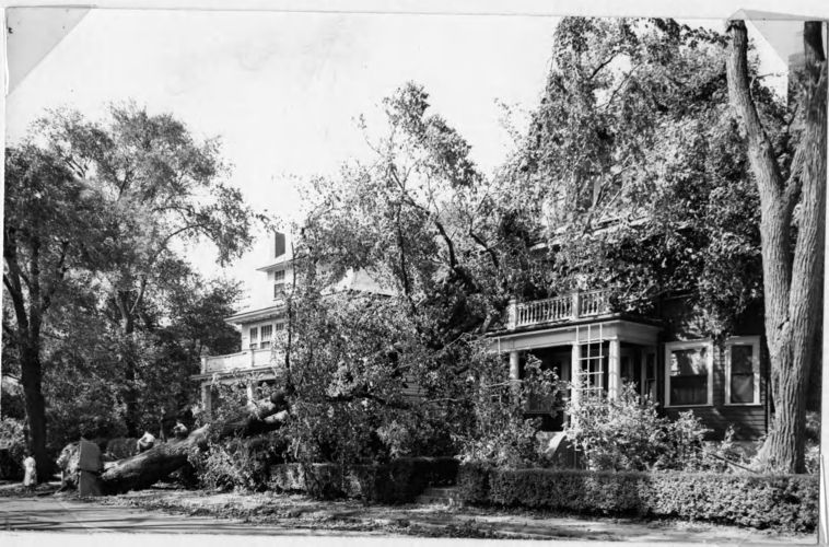 Hurricane damage in 1954.
