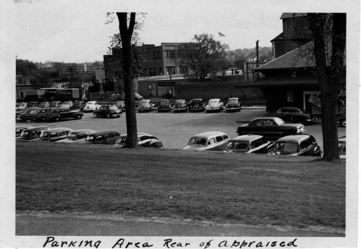 Parking area in Watertown Square.