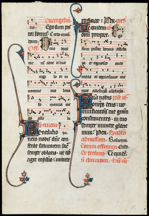 Two leaves from the Beauvais Missal