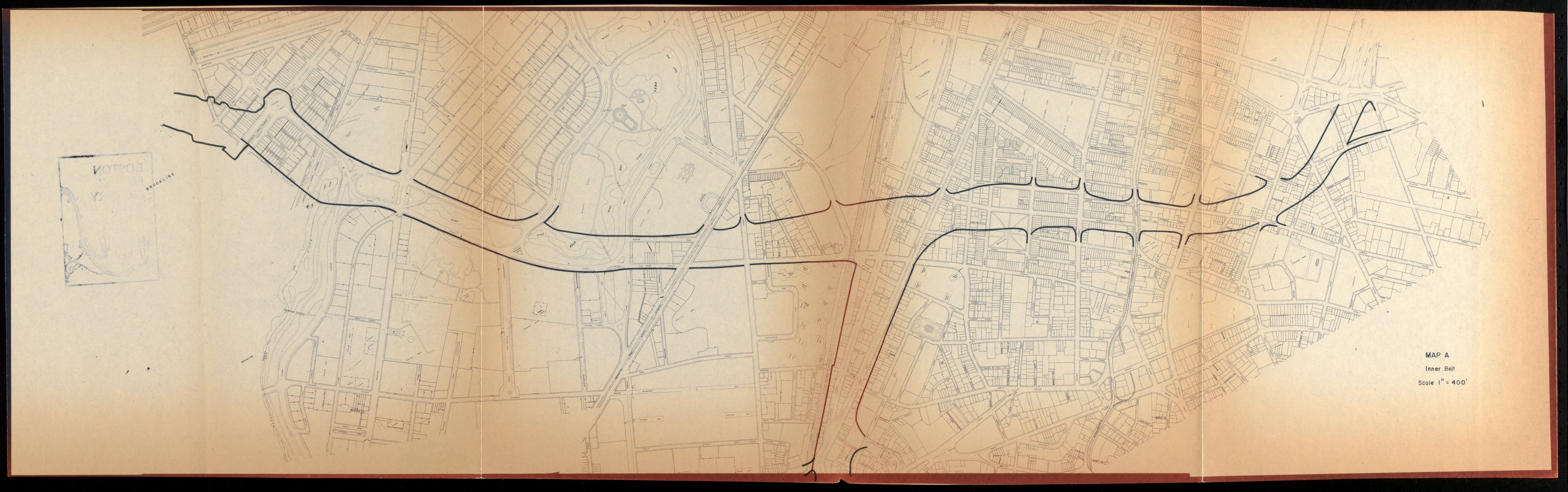 The proposed Southwest Expressway became one of the BRA's most controversial plans; this 1967 study examines the amount of displacement and property clearance that the proposed highway would have required