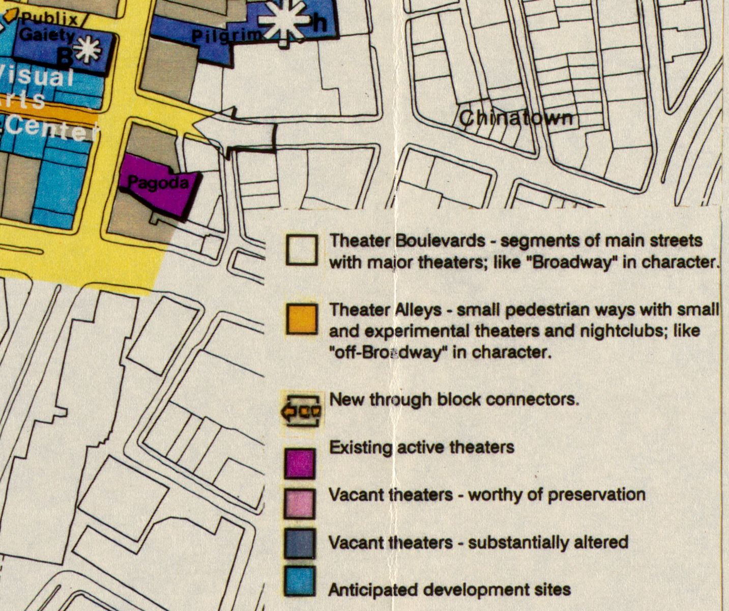 The Publix/Gaiety theater appears in the upper left of this excerpt