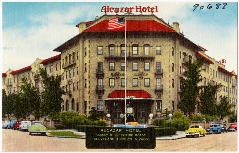 Alcazar Hotel, Surrey & Derbyshire Roads, Cleveland Heights 6, Ohio