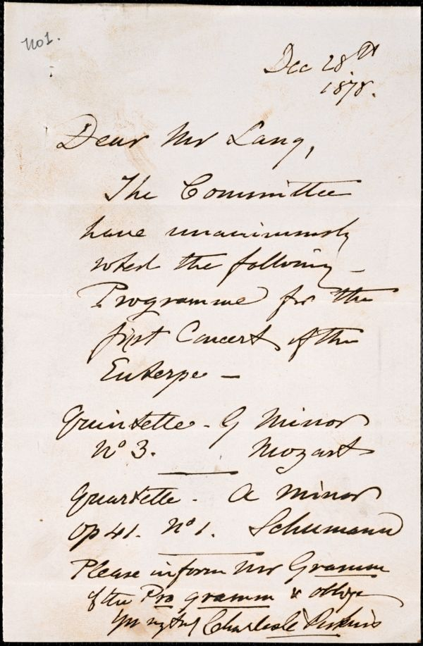 Letter from Charles C. Perkins to B. J. Lang, 1878 December 28