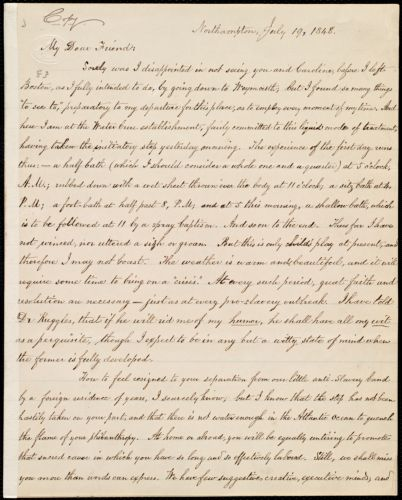 Copy of letter from William Lloyd Garrison, Northampton, [Mass.], to Maria Weston Chapman, July 19, 1848