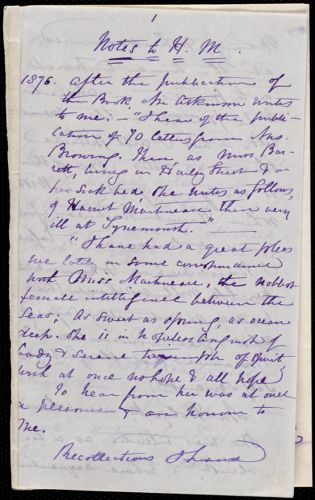 Notes by Maria Weston Chapman, [Not before 1876 June 27]
