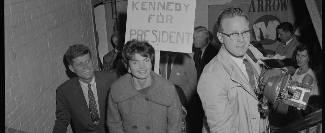 Jackie & JFK campaign in Mass.
