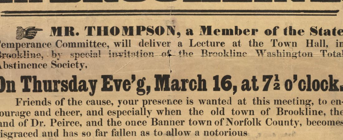 Poster for Temperance lecture