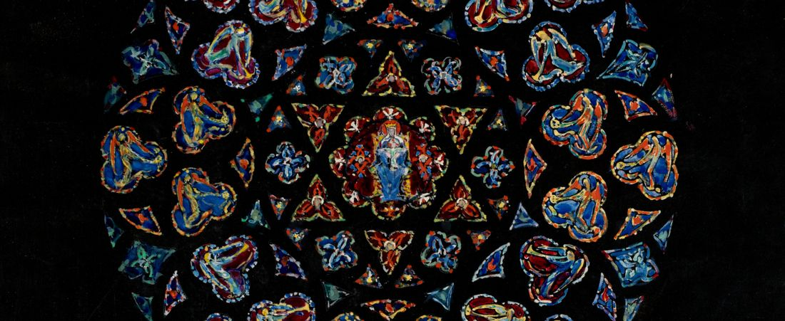Suggestion for enrichment of Great Rose window, Holy Cross Cathedral, Boston