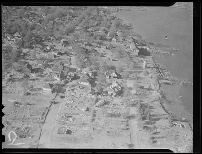 Aerial photos of aftermath of Hurricane of 38