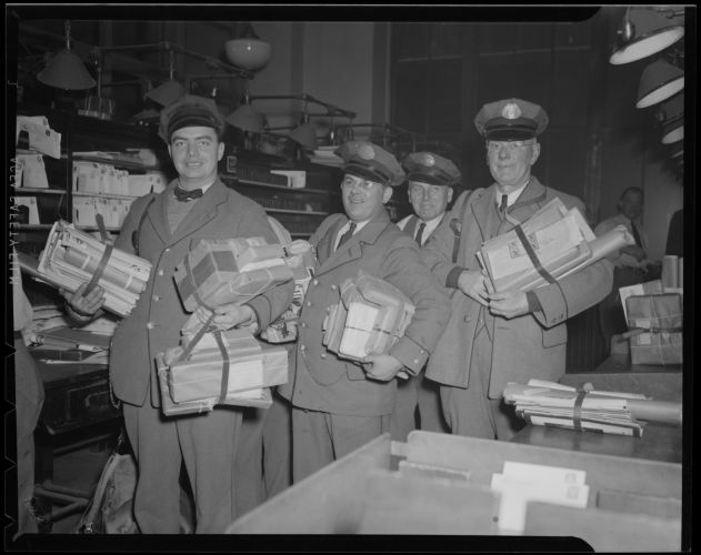 Post Office rush for Christmas time