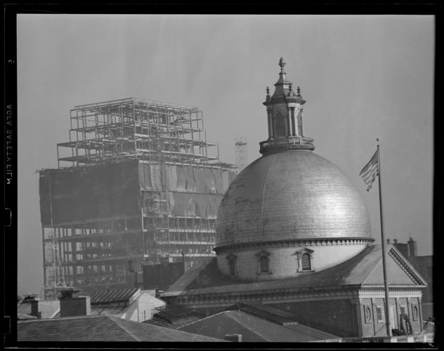 New Court House under construction with State House dome
