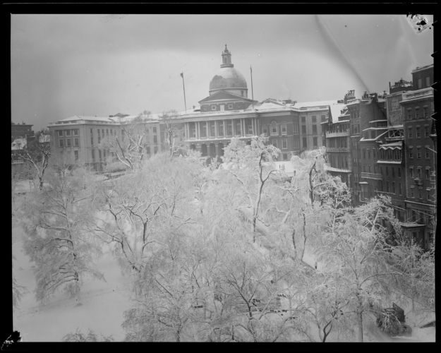 State House and Common, in the snow