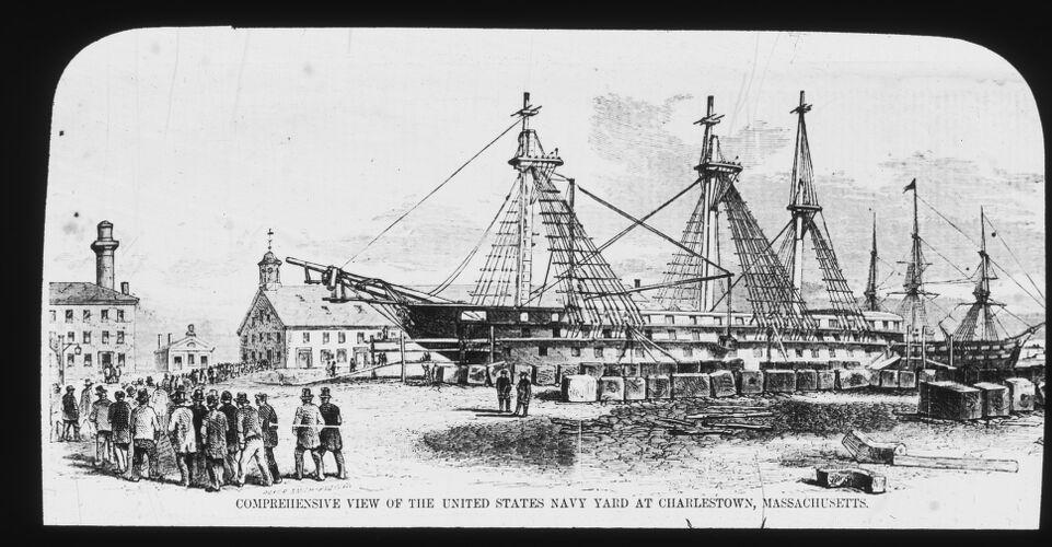 Comprehensive view of U.S. Navy Yard at Charlestown