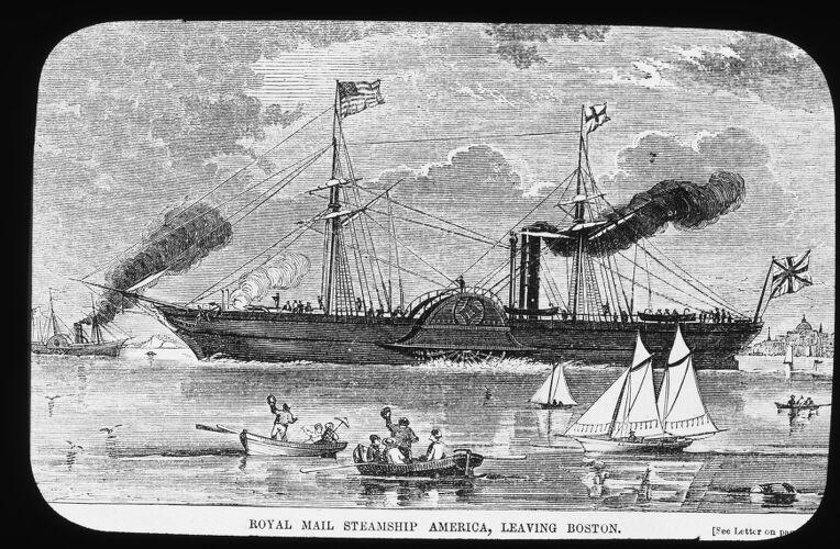 Royal mail S.S. America, leaving Boston