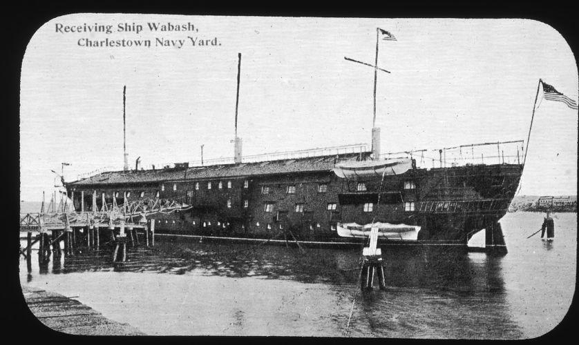 Receiving ship Wabash, Navy Yard 1876-1912