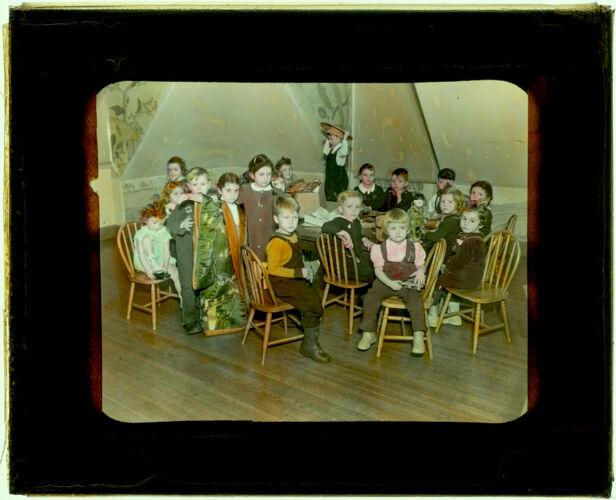 101 Loan Box--Little Children in Club Room