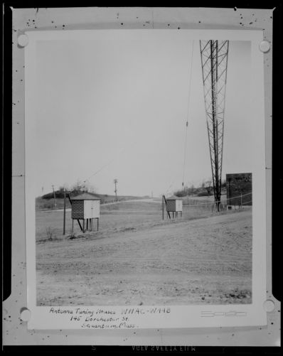 Antenna tuning houses, WNAC-WAAB