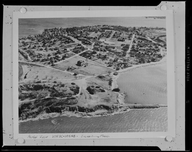 Aerial view, WNAC-WAAB, Squantum, Mass.