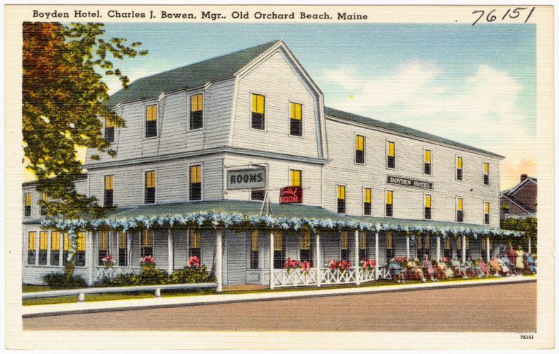 Boyden Hotel, Charles J. Bowen, Mgr., Old Orchard Beach, Maine