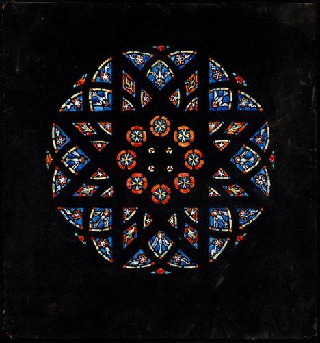 Church of Our Lady of Lourdes, Jamaica Plain, Mass. Rose window.
