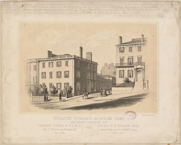 Beacon Street, Boston, 1843