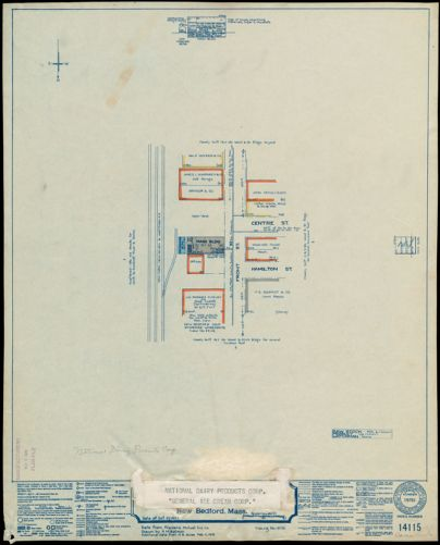 "National Dairy Products Corp. ""General Ice Cream Corp.,"" New Bedford, Mass. [insurance map]"