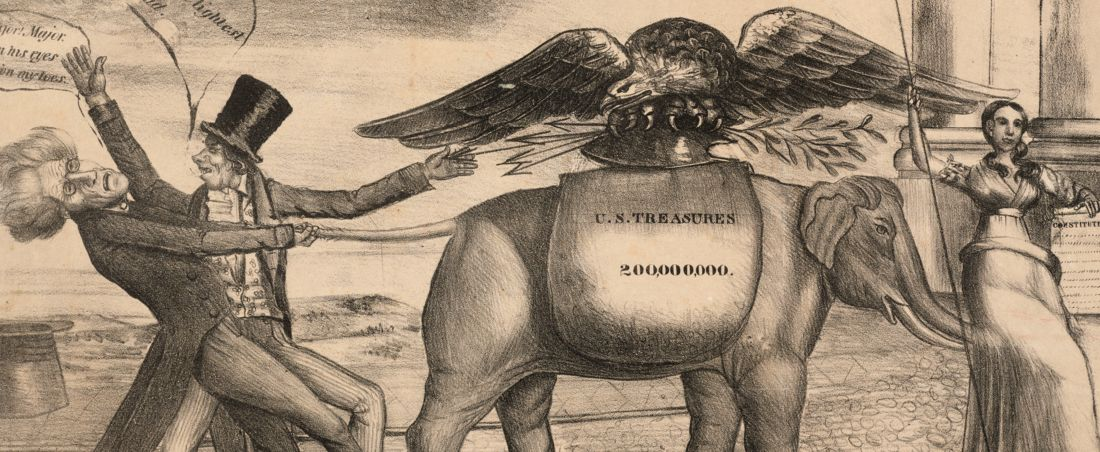 (Congressional elephant) or last desperate pull for power