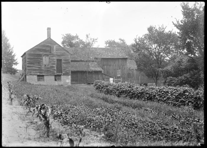 Alvah Colton shop & barn taken from south