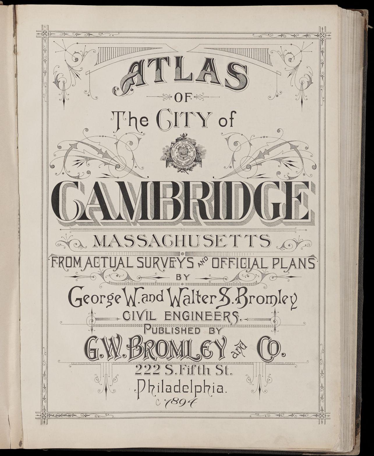 Atlas of the city of Cambridge, Massachusetts