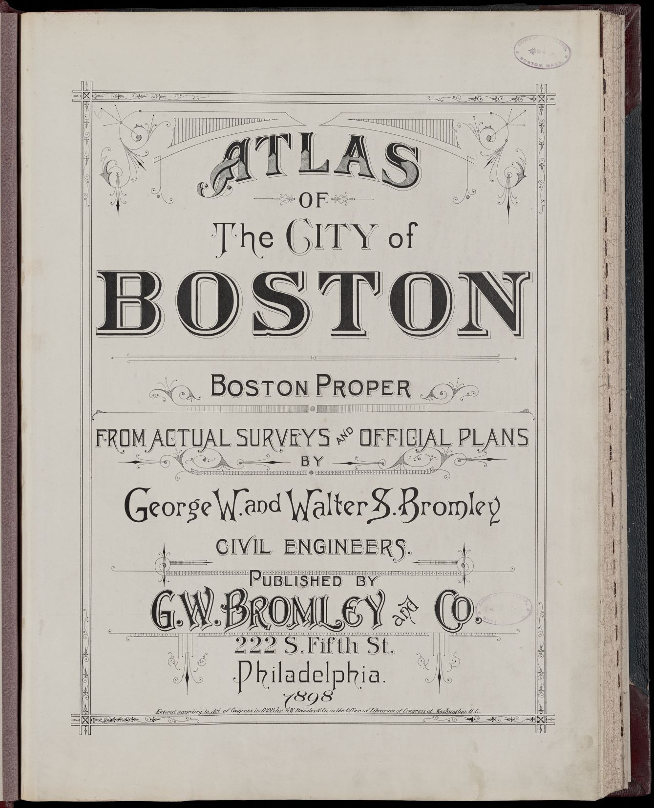 Atlas of the city of Boston : Boston proper