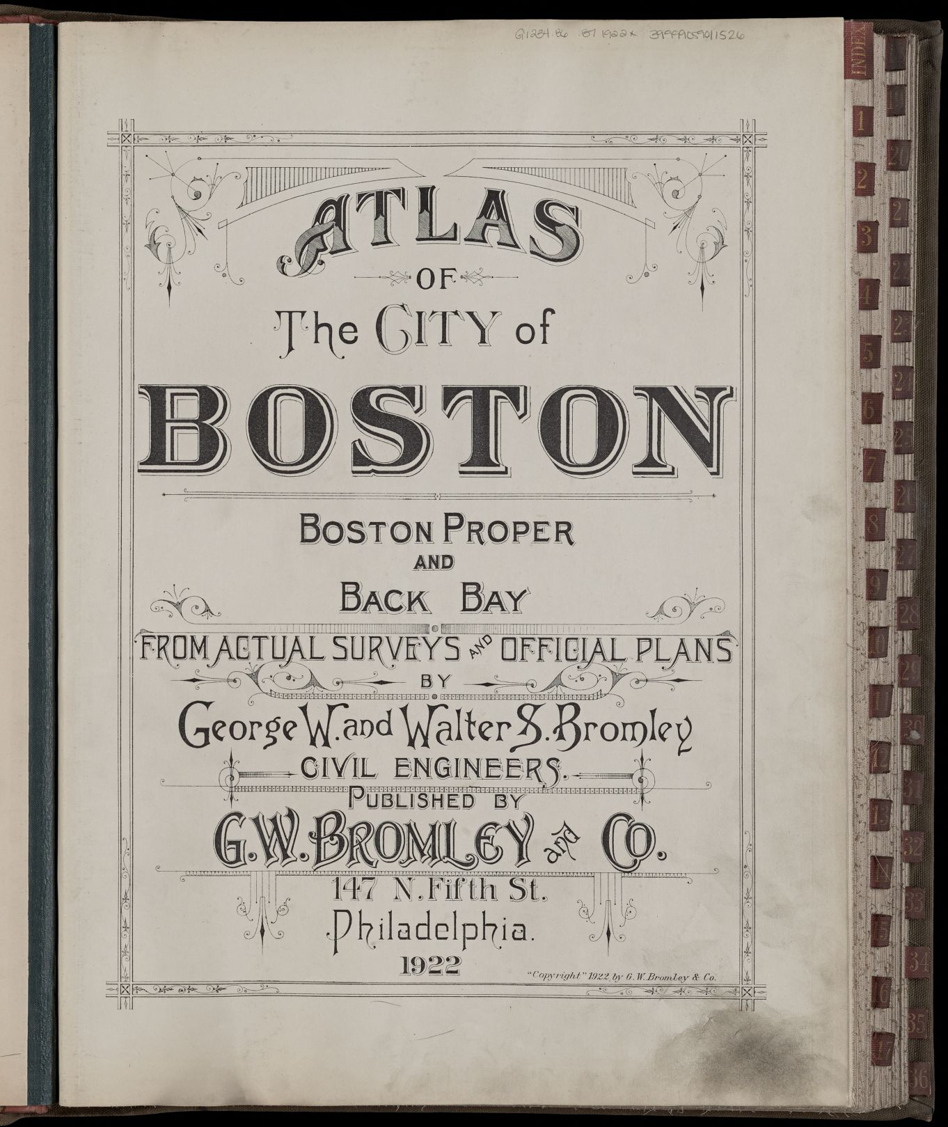 Atlas of the city of Boston : Boston proper and Back Bay