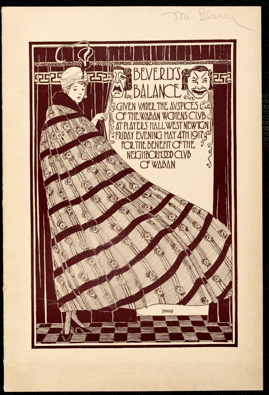 """Beverly's balance"" a play given by the Waban Women's Club on May 4th 1917"