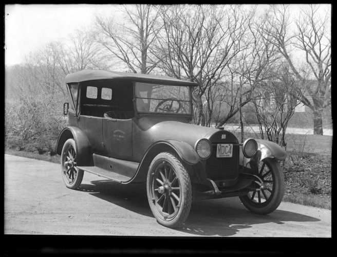 Distribution Department, MWW No. 4 [MDC No. 4], Buick; passenger side view; at Chestnut Hill Pumping Stations, Brighton, Mass., May 5, 1920