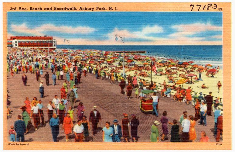 3rd Ave. beach and boardwalk, Asbury Park, N. J.