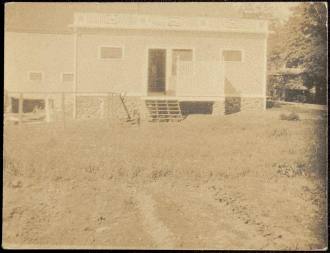 Ashdale Farm. Gertrude Stevens Kunhardt with dogs.