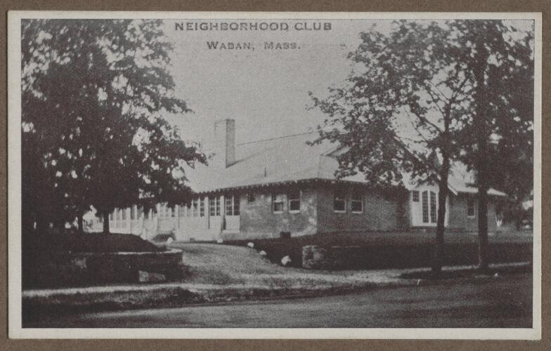 Waban photographs - Neighborhood Club -