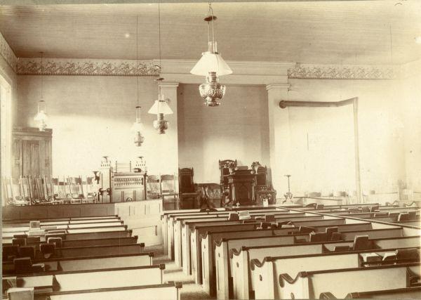 Buckland 1st Congregational Church Sanctuary, Buckland, Mass., circa 1900