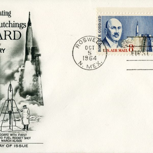 First Day Issue of the Robert H. Goddard Stamp