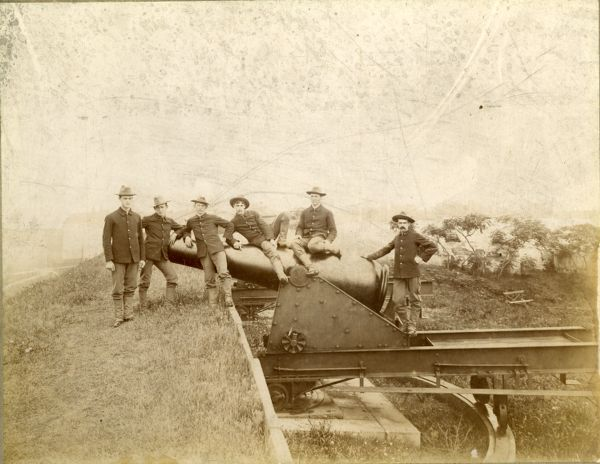 Corporal L.A. Young's Squad, 1st Heavy Artillery, Fort Warren, Boston, August 7, 1896