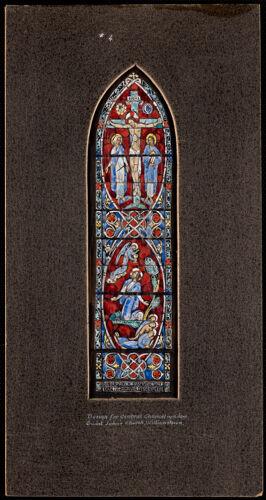 #4. Design for central chancel window, Saint John's Church, Williamstown.