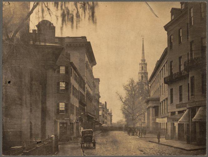 Tremont Street in 1860