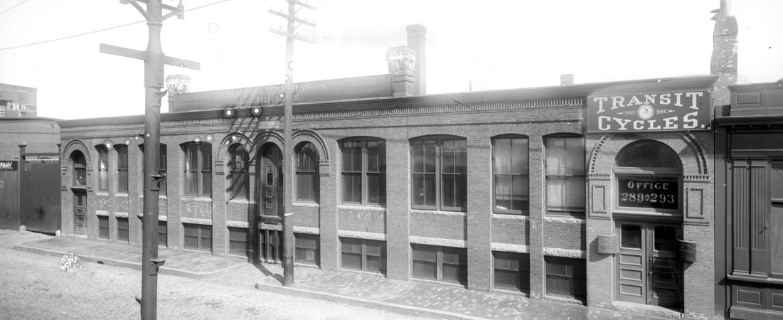 """289-293 """"A"""" Street, Transit Cycles office, Albert & J.M. Anderson, machinists"""