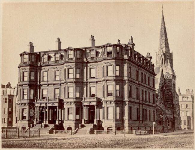 Residence of C. H. Dalton, J. Sawyer and Mrs. N. Bowditch