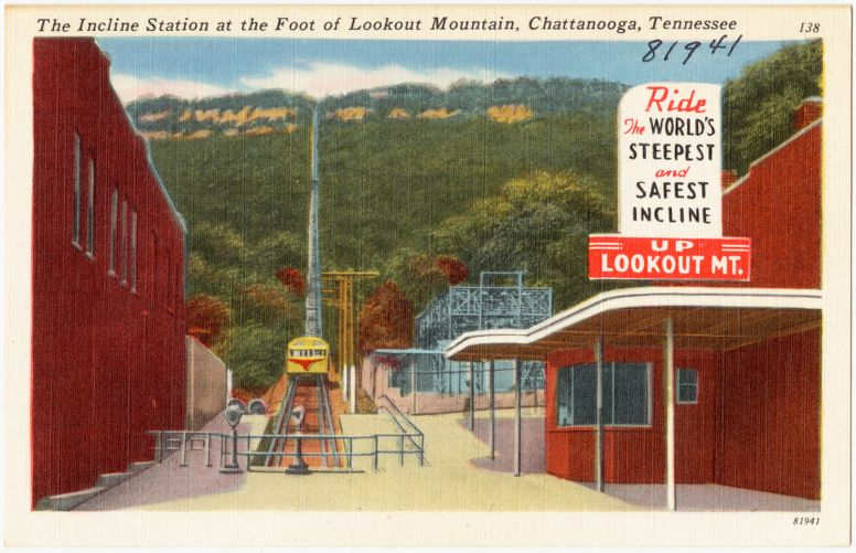 The Incline Station at the foot of Lookout Mountain, Chattanooga, Tennessee