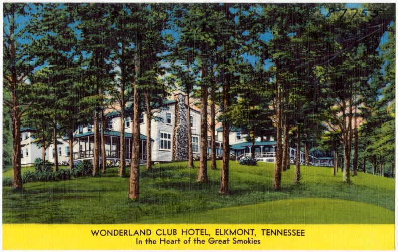 The Wonderland Cub Hotel, Elkmont, Tennessee, in the heart of the Great Smokies