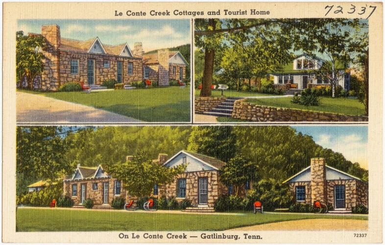Le Conte Creek Cottages and Tourist Home, on Le Conte Creek -- Gatlinburg, Tenn.